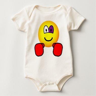 Boxing emoticon Black eye  baby_toddler_apparel_tshirt