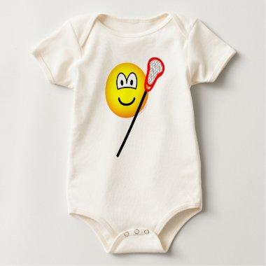 Lacrosse emoticon   baby_toddler_apparel_tshirt