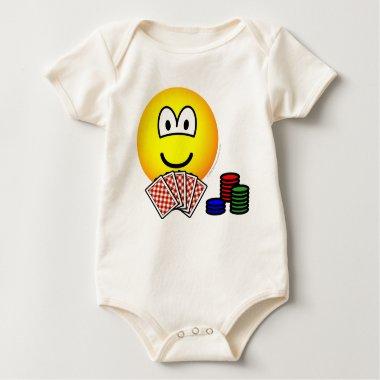 Poker emoticon   baby_toddler_apparel_tshirt