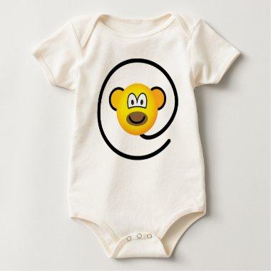 Web monkey emoticon   baby_toddler_apparel_tshirt