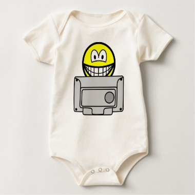 Watching telly smile   baby_toddler_apparel_tshirt