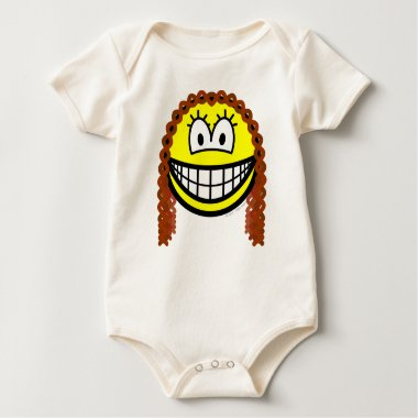 Curly hair smile   baby_toddler_apparel_tshirt