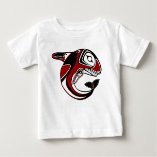 Baby/Toddler Red Whale Totem Apparel Baby T-Shirt
