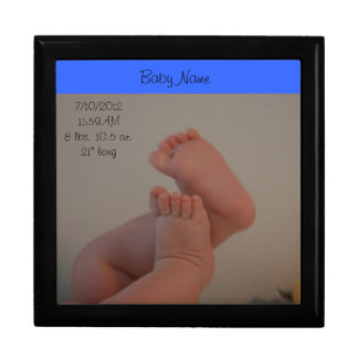 Baby Toes Boy Keepsake Large CUSTOMIZE IT Jewelry Box