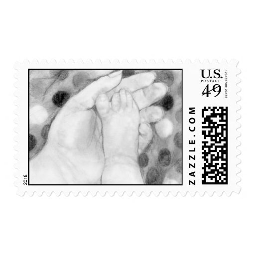 """Baby Toes"" Postage"