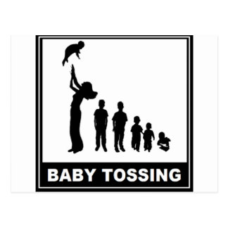 BABY TOSSING POST CARDS