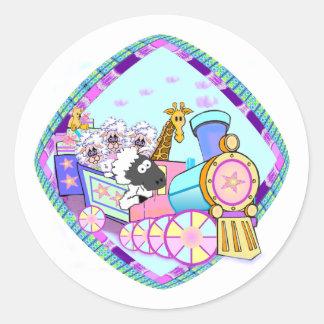 Baby Train Baby Gifts Classic Round Sticker