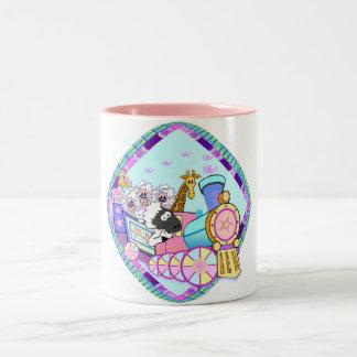Baby Train Baby Gifts Two-Tone Coffee Mug