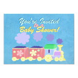 "Baby Train Baby Shower Invitation 5"" X 7"" Invitation Card"