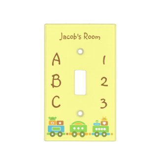 Baby Train Light Switch Covers