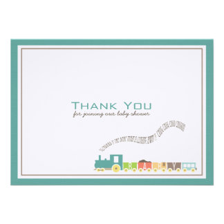 Baby Train Thank You Card Personalized Announcements