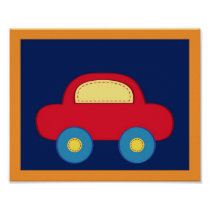 Baby Travel Car Nursery Wall Art Print