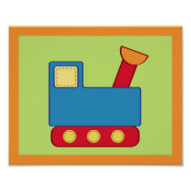 Baby Travel Truck Nursery Wall Art Print