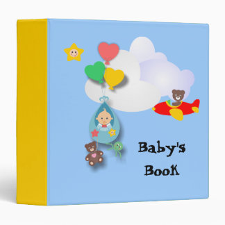 Baby Travels By Balloon 3 Ring Binders