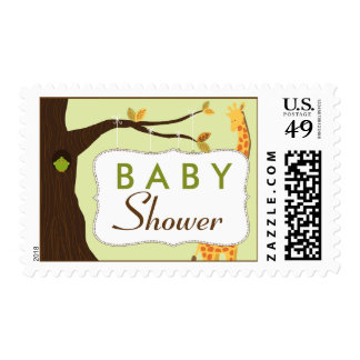 Baby Tree Sign Baby Shower Stamp (green)