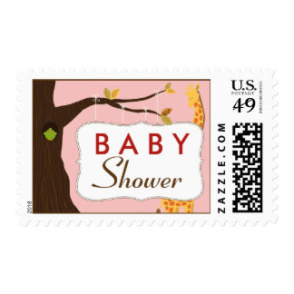 Baby Tree Sign Baby Shower Stamp (pink)