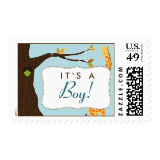 "Baby Tree Sign ""It's a Boy!"" Stamp (blue)"