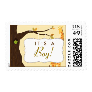 """Baby Tree Sign """"It's a Boy!"""" Stamp (yellow)"""