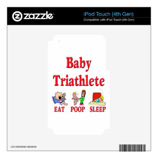 Baby Triathlete Decal For iPod Touch 4G