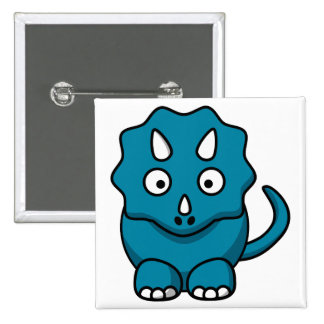 Baby Triceratops 2 Inch Square Button