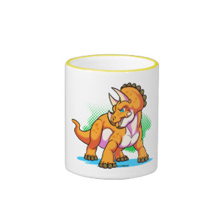 Baby triceratops ringer mug