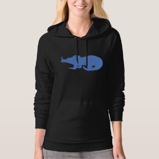 Baby Triceratops Silhouette (Blue) Hoody