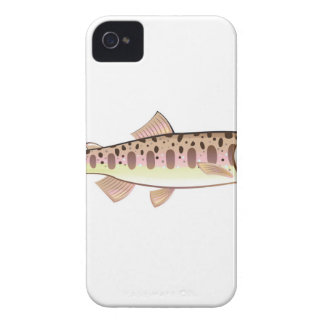 Baby trout cartoonified vector Art fish farm iPhone 4 Cover