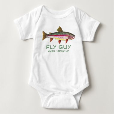 Baby Trout Fishing Baby Bodysuit
