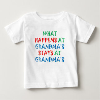 Baby TShirt: What Happens at Grandma's Baby T-Shirt