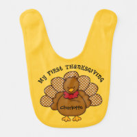 Baby Turkey 1st Thanksgiving Baby Bib