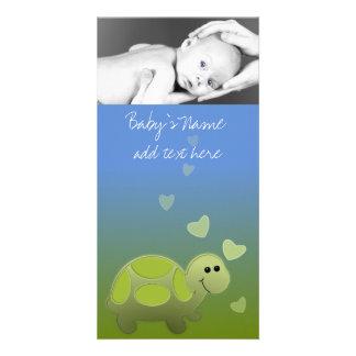 Baby Turtle Announcment Photo Card