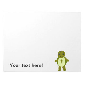 Baby turtle cartoon scratch pad