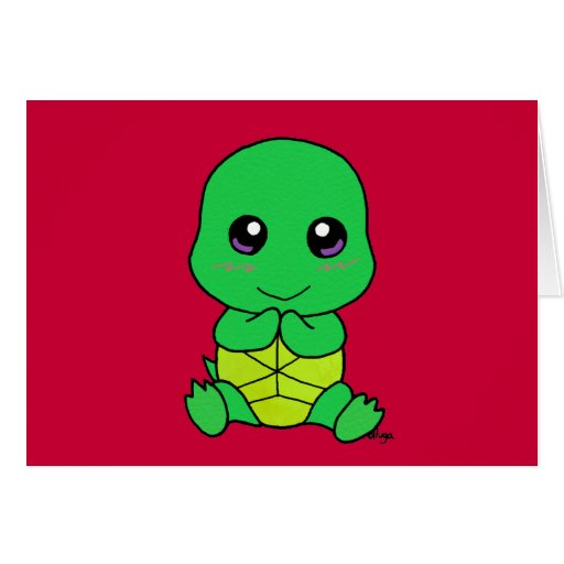 Baby turtle greeting cards