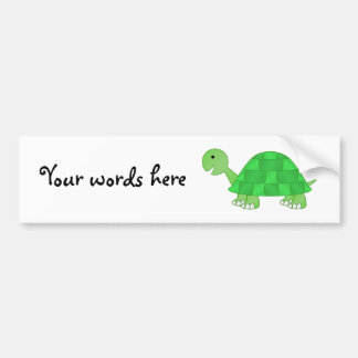 Baby turtle in green fade bumper sticker