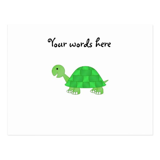 Baby turtle in green fade postcard