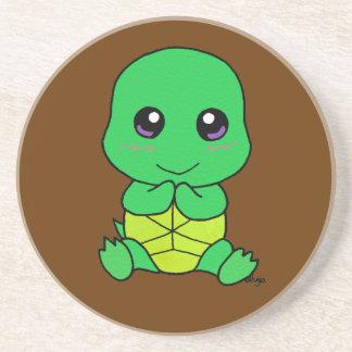 Baby turtle sandstone coaster