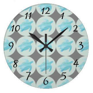 Baby Turtles Beach House Wall Clock