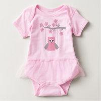 Baby Tutu Bodysuit/Owl Baby Bodysuit