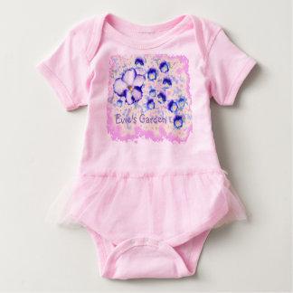 Baby Tutu violet garden Baby Bodysuit