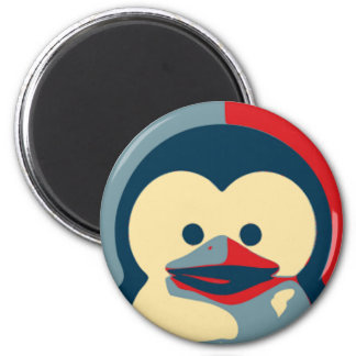 Baby Tux Linux 2 Inch Round Magnet