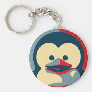 Baby Tux Linux Basic Round Button Keychain