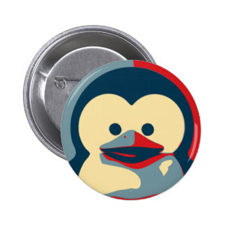 Baby Tux Linux Button