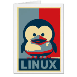 Baby Tux Linux Card
