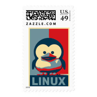 Baby Tux Linux Postage