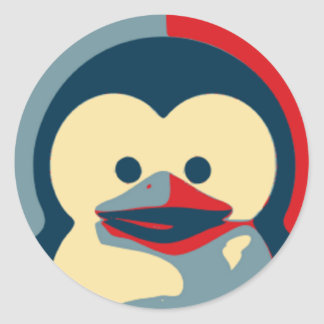 Baby Tux Linux Classic Round Sticker