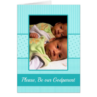 Baby Twin Boys be our Godparent Invitation