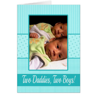 Baby Twin Boys Gay Dads Birth Announcement