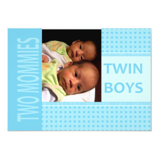 Baby Twin Boys Lesbian Moms Birth Announcement