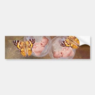 Baby twin boys or girls bumper sticker