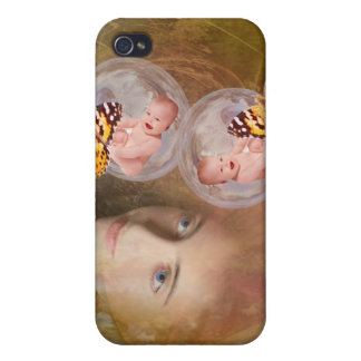 Baby twin boys or girls case for iPhone 4
